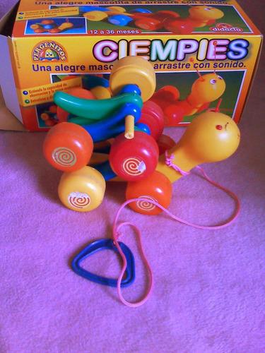 juego de arrastre ciempies