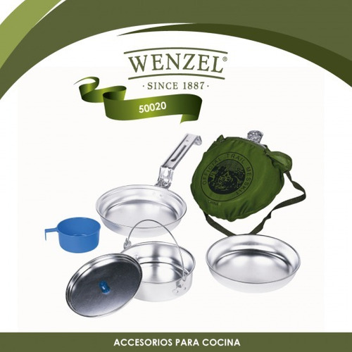 juego de artículos de cocina para campismo wenzel 50020