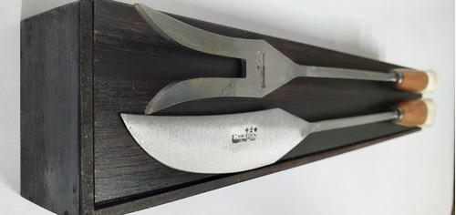 juego de asador cuchillo y tenedor parrillero el jabali