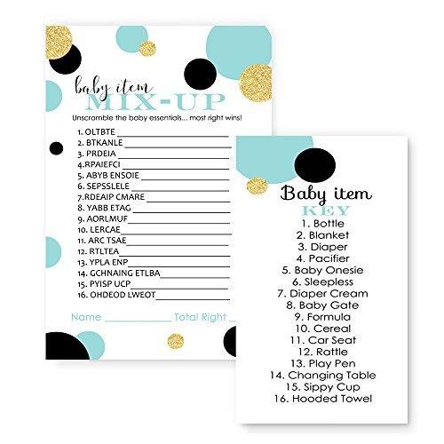Lista De Baby Shower Nino.Juego De Baby Shower Para Ninos Word Scramble Mint And Go