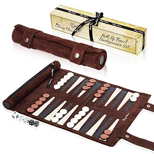 Juego De Backgammon De Viaje Juego De Mesa Enrollable D