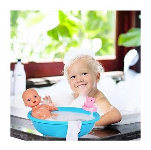 juego de bañera baby doll con muñeca de vinilo de 10 pulgada
