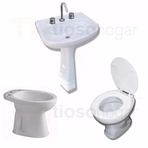 juego de baño 4 piezas alberti inodoro bidet columna bacha