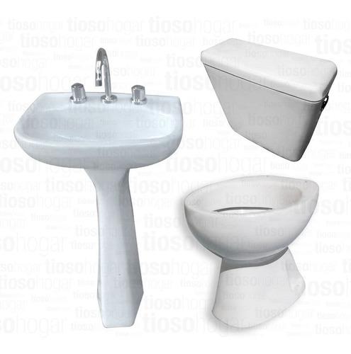 juego de baño 4 piezas alberti sanitarios lavatorio oferta +