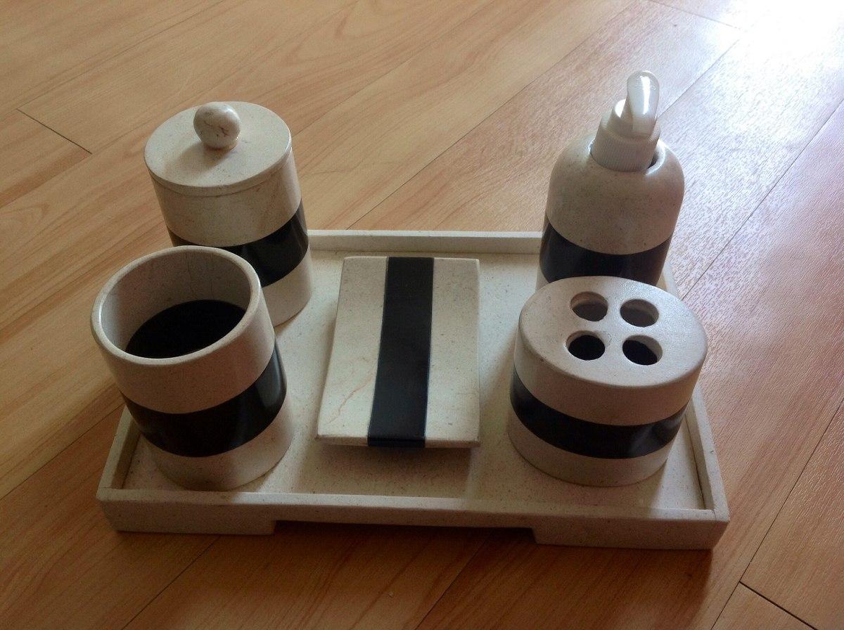 Juego de ba o de 6 piezas en m rmol y onix color beige for Banos marmol beige