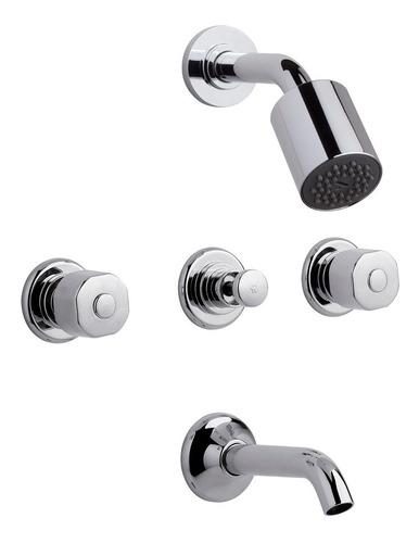 juego de baño griferia fv arizona lavatorio + bidet + bañera