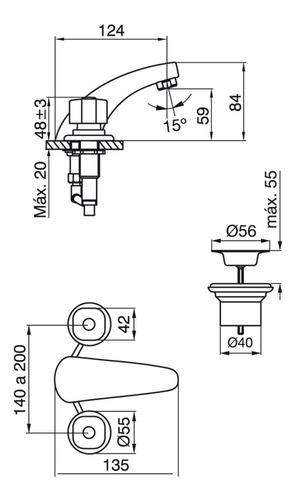 juego de baño griferia fv arizona lavatorio + bidet + ducha