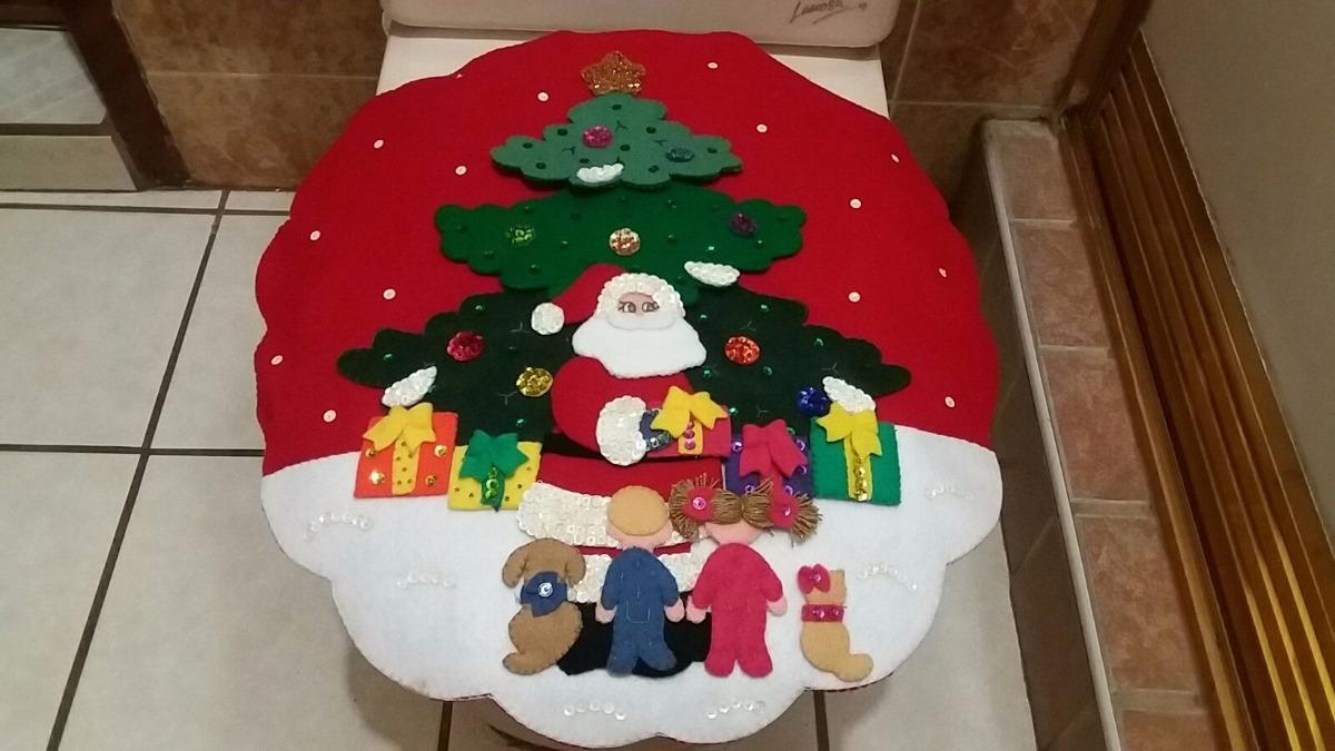 Baño Navideno Navidad:Juego De Baño Navideño En Fieltro 3 Pinos $ 95000 en Mercado