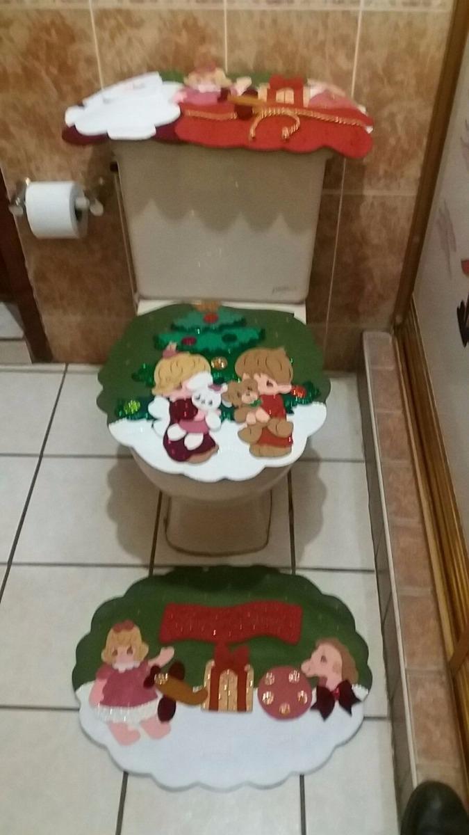 Juego de ba o navide o en fieltro ni os 1 en for Casa de navidad cocina con sara