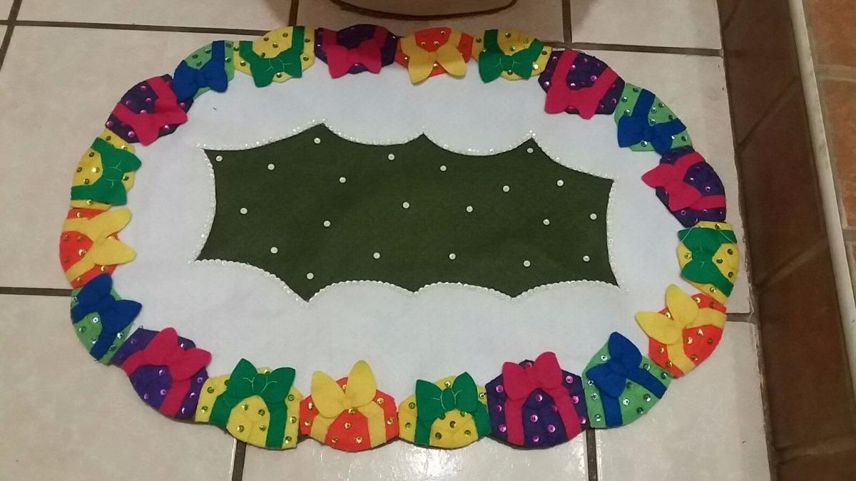 Juego De Baño Navideño En Fieltro Santa Claus - $ 950.00 en Mercado ...