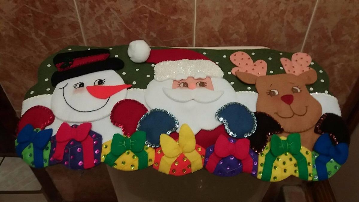 Accesorios De Baño Navidenos:Juego De Baño Navideño En Fieltro Santa Claus – $ 95000 en Mercado