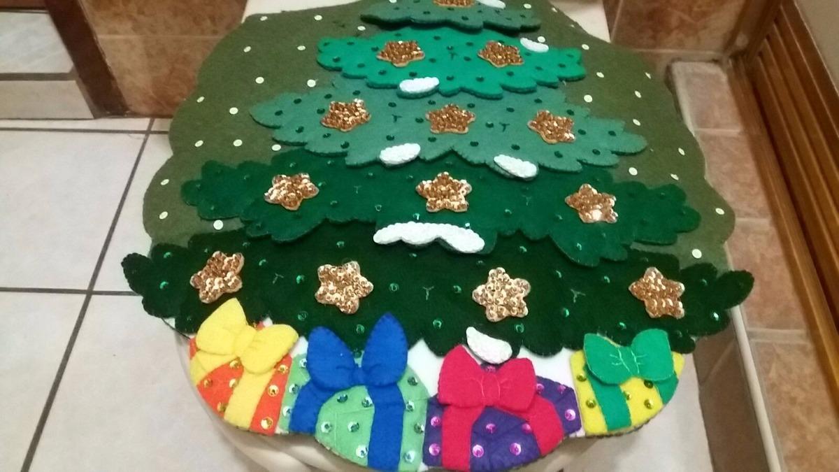 Baño Navideno Navidad:Juego De Baño Navideño En Fieltro Santa Claus – $ 95000 en Mercado