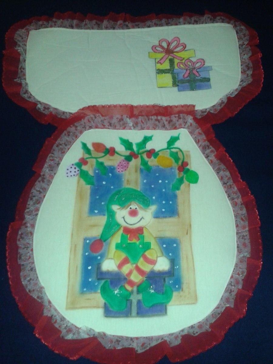 Juego de ba o navide o pintado en mercado libre for Juego de bano completo precios