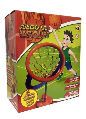juego de basquet niño juegosol con pelota altura regulable