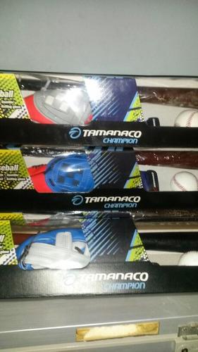 juego de béisbol con bate de madera tamanaco