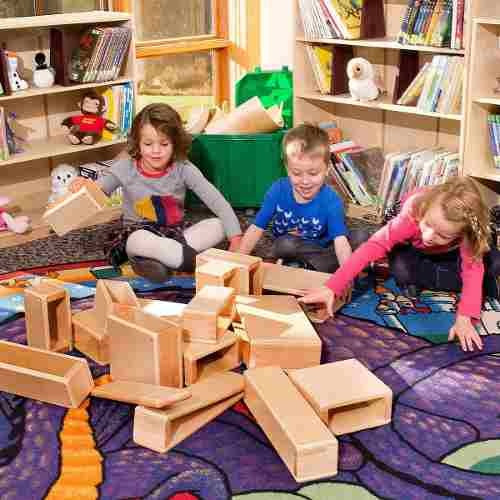 juego de bloques de madera huecos de gran tamaño ecr4kids!