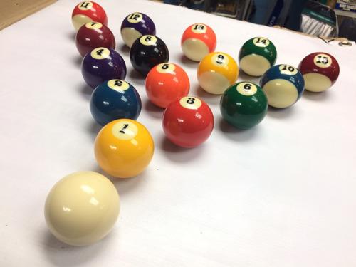 juego de bolas de billar pool.
