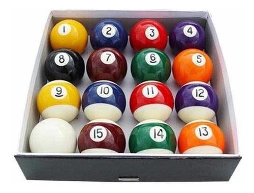 juego de bolas de pool medida profesional 57mm en caja nuevo