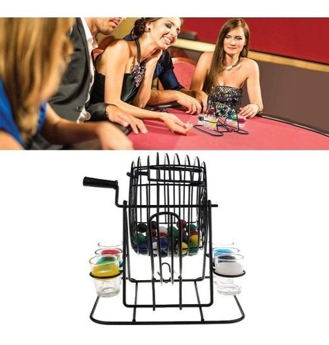 juego de bolillero con shot - bingo con 6 chupitos