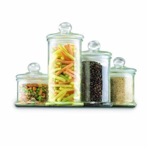 juego de botes de frasco de boticario de vidrio de anclaje !