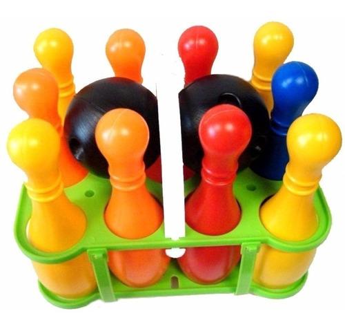 juego de bowling duravit bolos 10 pinos 2 pelotas canasto