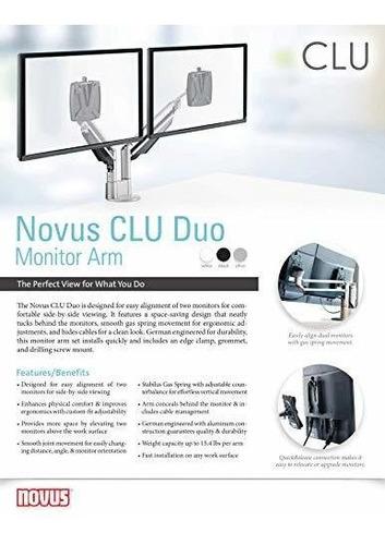juego de brazos para monitor novus clu duo, facil alineacion