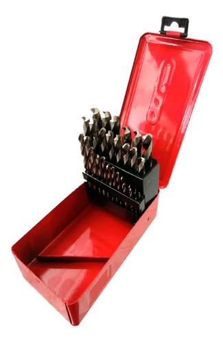 juego de brocas acero rápido hss 29 piezas 1/16  a 1/2