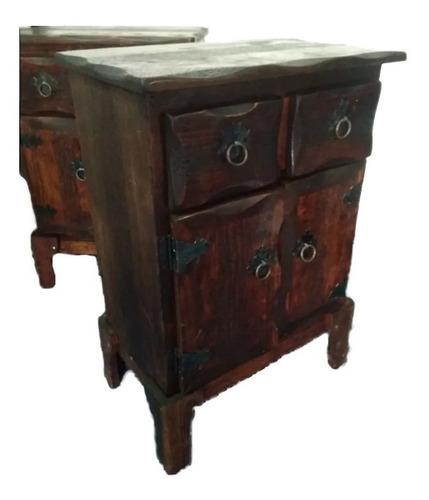 juego de burós antiguos 100% madera mueble cajón mesas