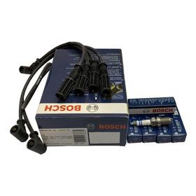 Juego De Cables Y Bujias Bosch Fiat Siena 1.4 8v Fire