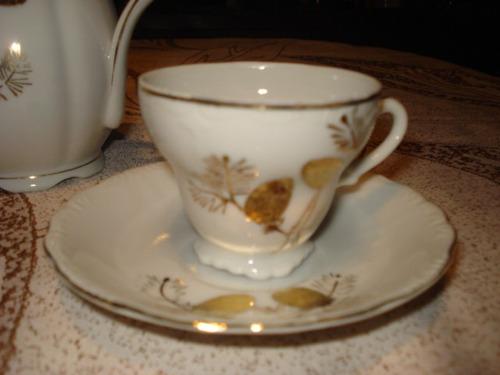 juego de cafe japones en dorado