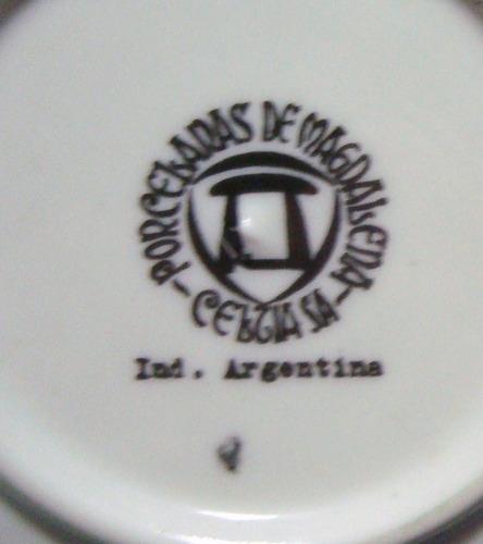 juego de cafe para 6 personas - porcelanas magdalena