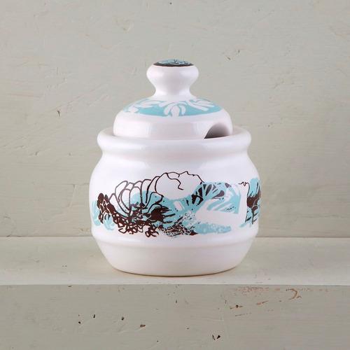 juego de café pocillo de diseño de cerámica decorada | cl