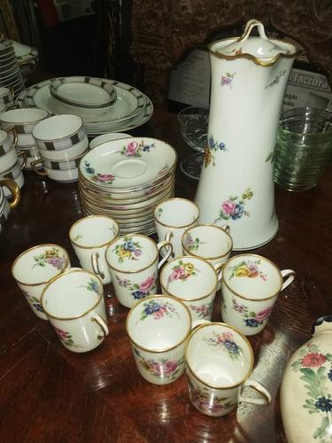 juego de café porcelana antigua