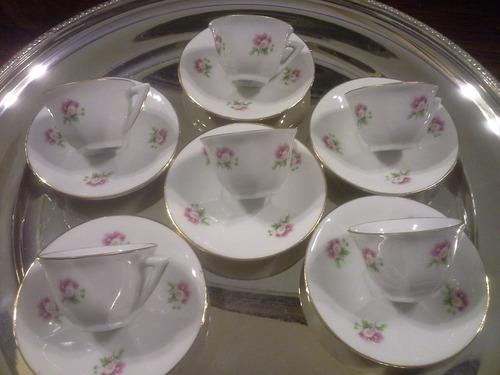 juego de cafe porcelana francesa. 6 tazas