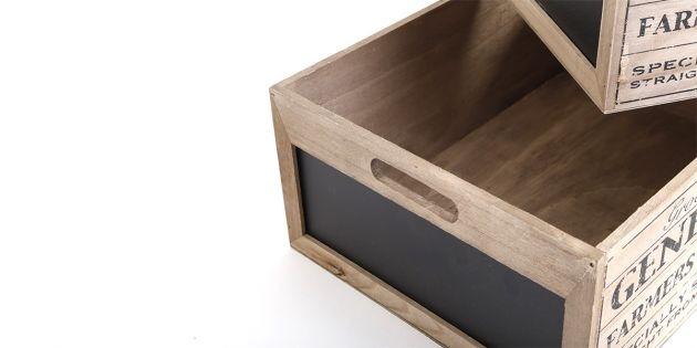Juego de cajas decorativas de madera woow - Cajas de madera decorativas ...