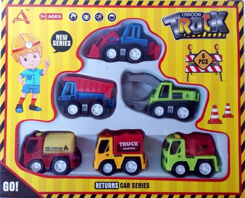juego de carritos de construcción camión carro plástico