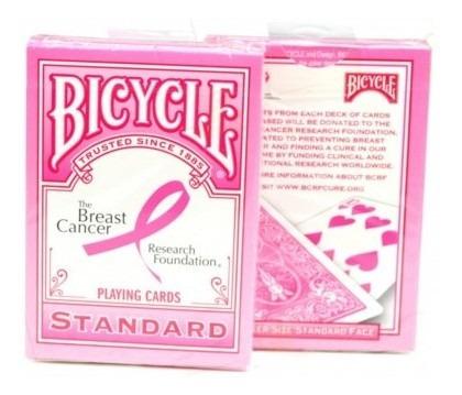 juego de cartas bicycle breast cancer research foundation