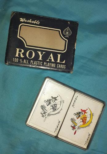 juego de cartas de plastico marca royal