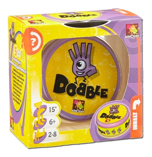 juego de cartas dobble  memoria  interactivo ml1893 morado