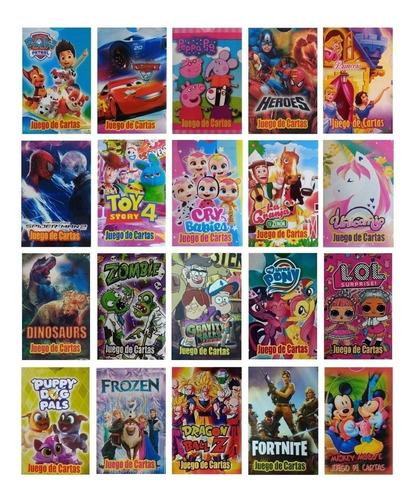 juego de cartas naipes infantil pack x 45 mazos diverti toys