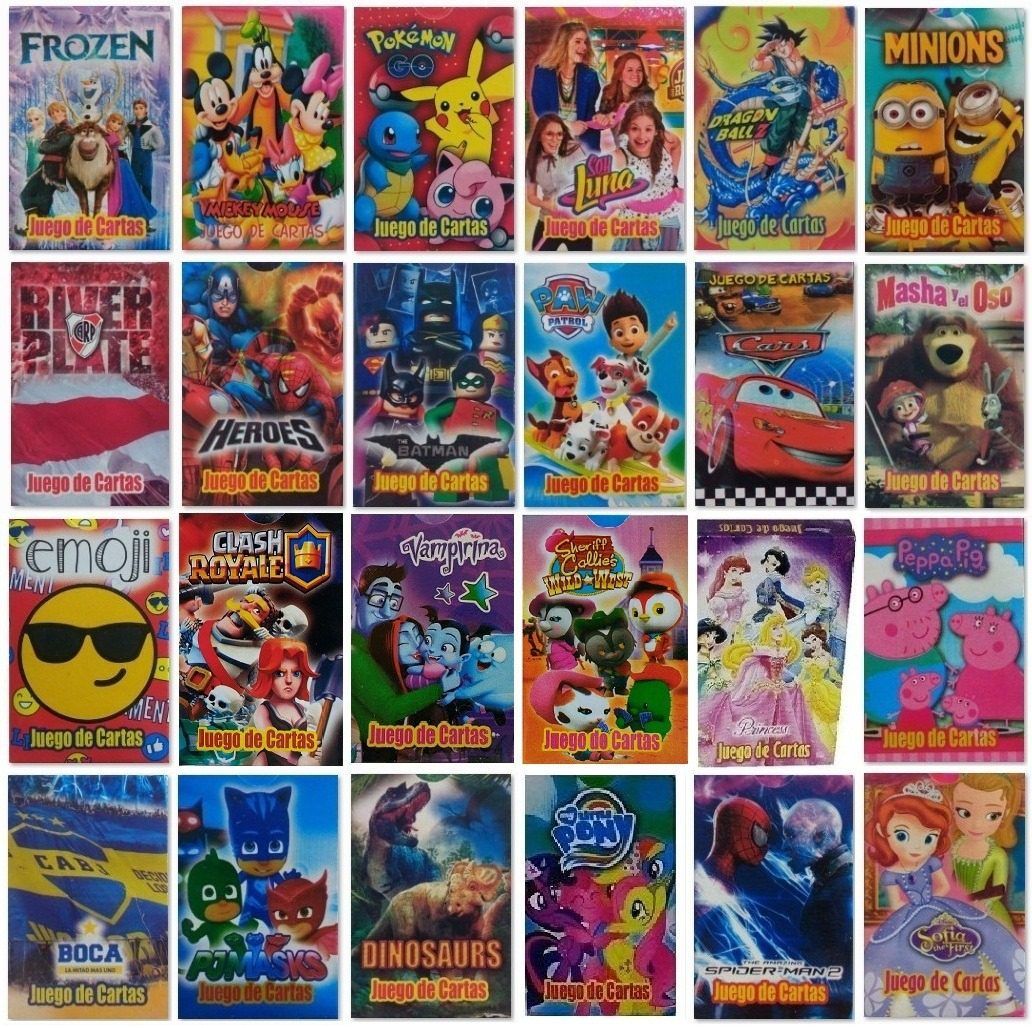 Juego De Cartas Naipes Infantil Pack X 55 Mazos Diverti Toys 660