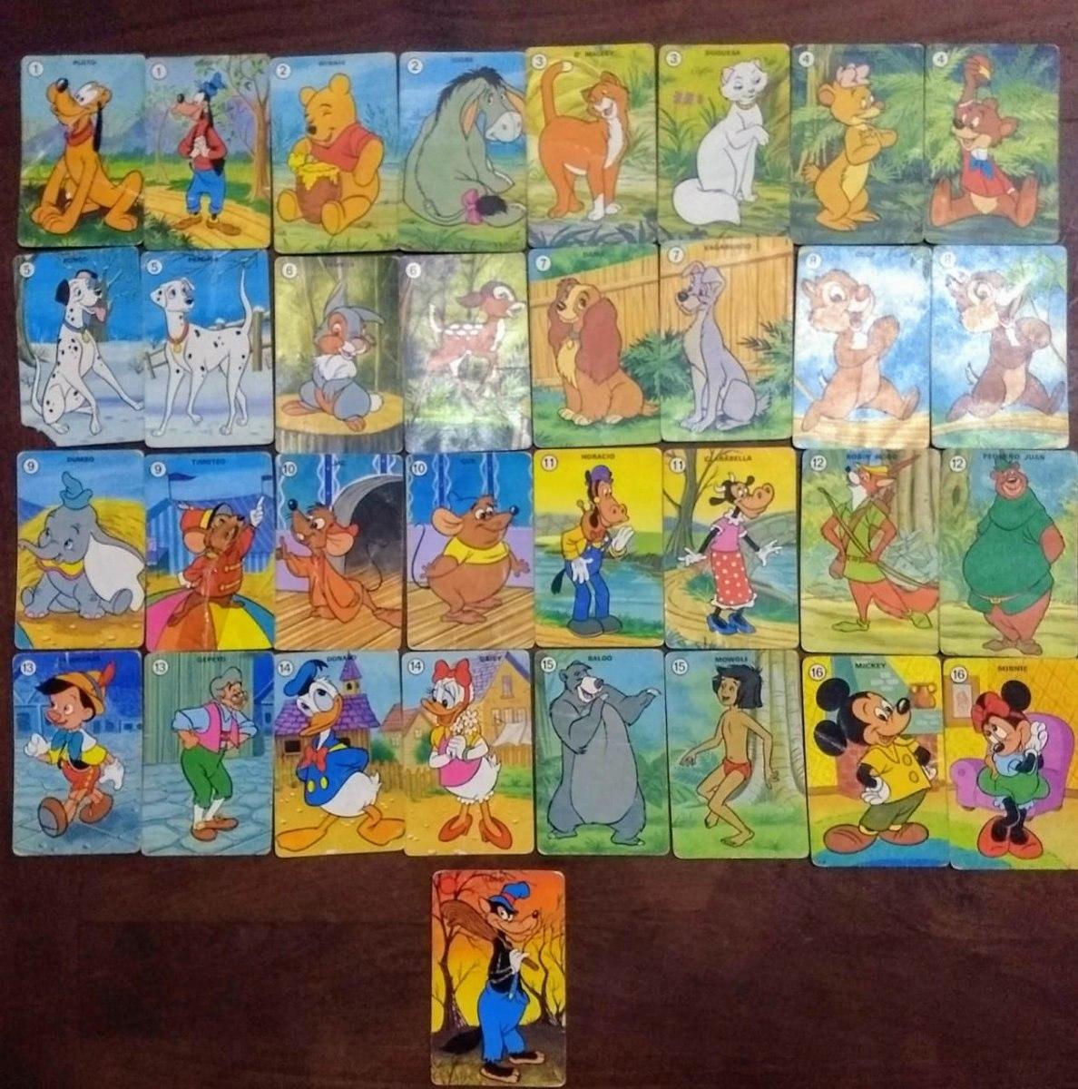 Juego De Cartas Naipes Para Ninos Personajes Antiguos Disney 200