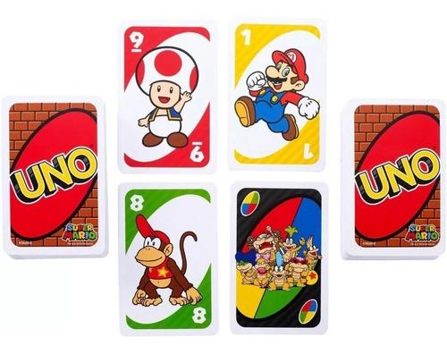 juego de cartas uno super mario bross mattel nintendo