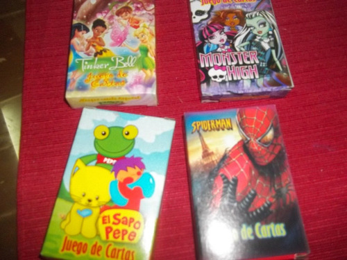 juego de cartas violetta/simpsons/sofia/cars/frozen/spider..