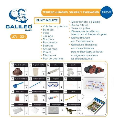 juego de ciencia volcan y excavacion jurasica galileo full