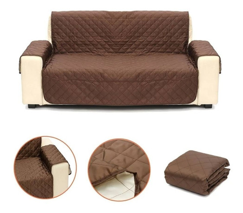 juego de cobertores 3-2-1 para sillones - sofas reversible