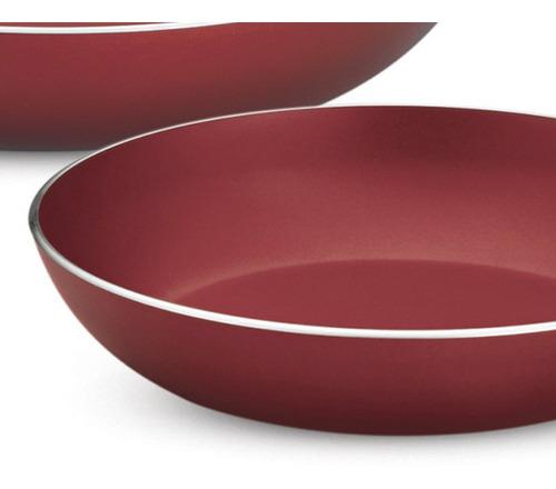 juego de cocina con teflon style rojo 4 piezas tramontina
