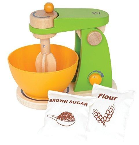 juego de cocina hape mighty mixer wooden play con accesorios