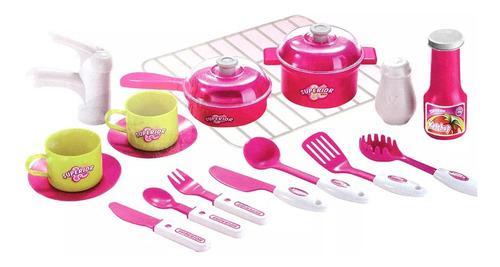 juego de cocina para niños con luz y sonido infantil ub