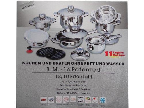 Juego De Cocinas 16 Piezas De Bachmayer Solingen